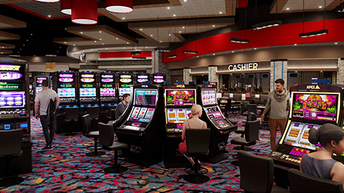 Artist rendition of the gaming floor at the New Quil Ceda Creek Casino opening on February 3rd, 2021 located in Marysville!