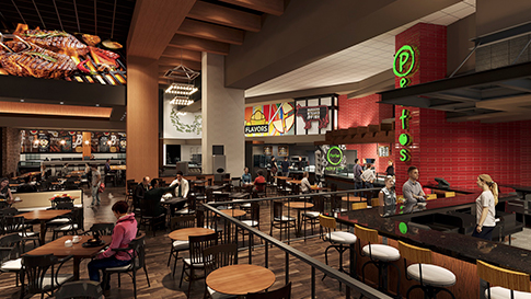 Artist rendition of The Kitchen interior at the New Quil Ceda Creek Casino opening on February 3rd, 2021 located in Marysville!