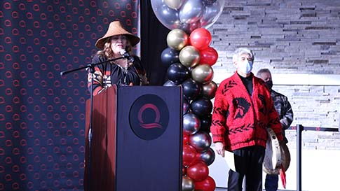 The opening ceremony on February 3rd, 2021 for the New Quil Ceda Creek Casino located in Marysville!