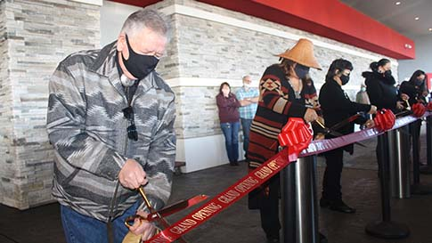 The ribbon cutting during the opening ceremony on February 3 for the New Quil Ceda Creek Casino located in Marysville!