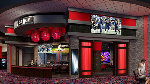 Artist rendition of The Stage exterior at the New Quil Ceda Creek Casino opening on February 3rd, 2021 located in Marysville!