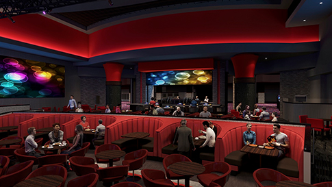 Artist rendition of The Stage interior at the New Quil Ceda Creek Casino opening on February 3rd, 2021 located in Marysville!